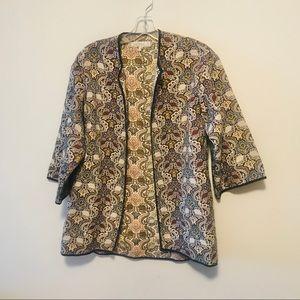 Zara quilted open jacket sz medium